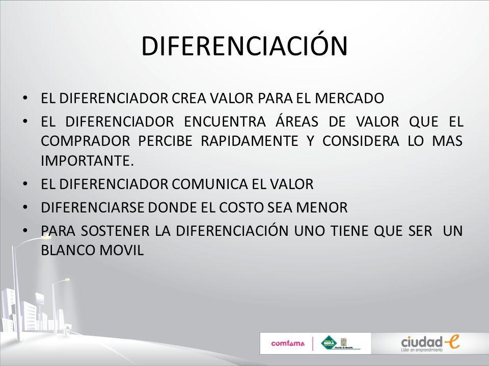 DIFERENCIACIÓN EL DIFERENCIADOR CREA VALOR PARA EL MERCADO
