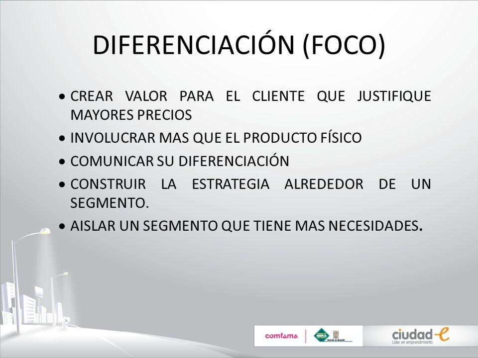 DIFERENCIACIÓN (FOCO)