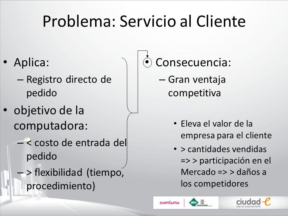 Problema: Servicio al Cliente