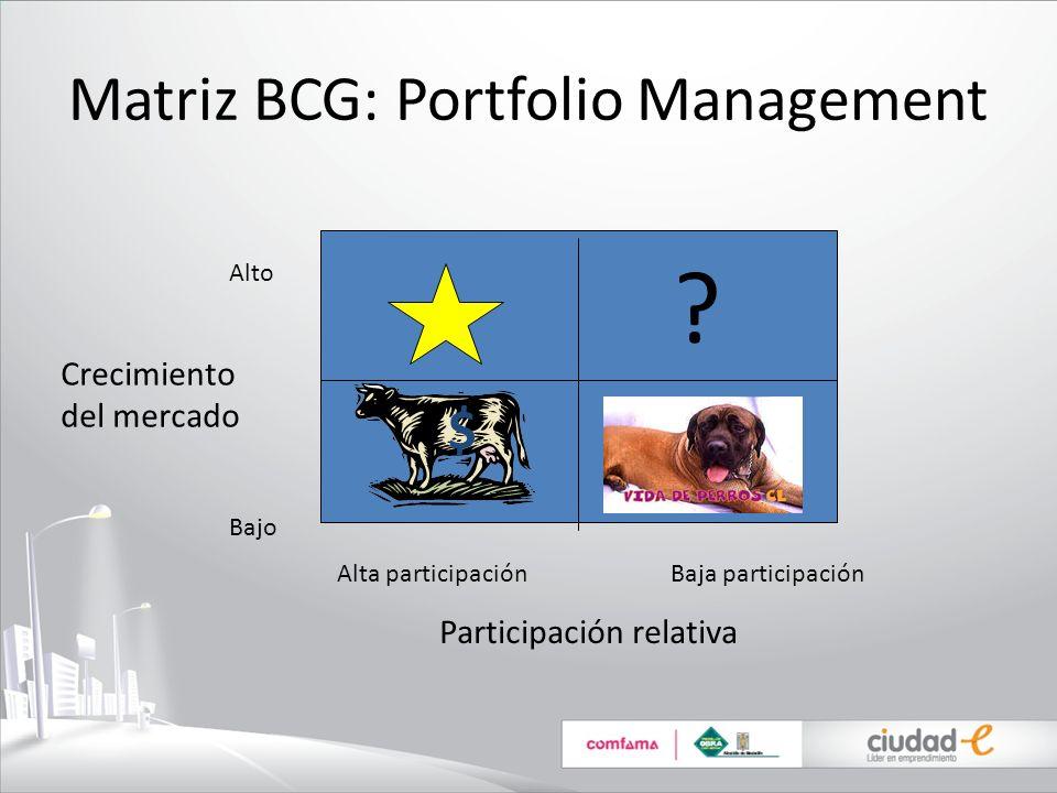 Matriz BCG: Portfolio Management