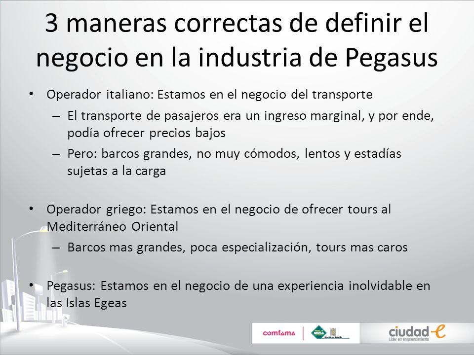 3 maneras correctas de definir el negocio en la industria de Pegasus