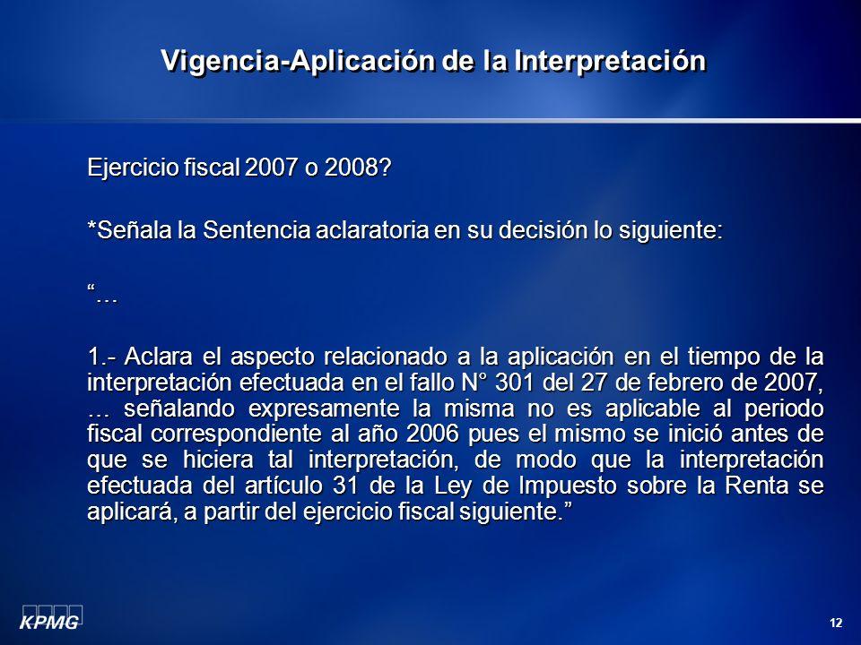 Vigencia-Aplicación de la Interpretación
