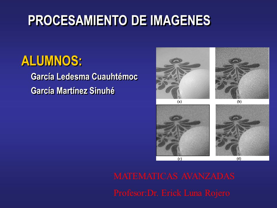PROCESAMIENTO DE IMAGENES