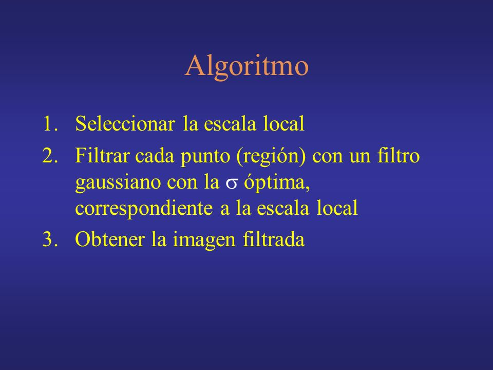Algoritmo Seleccionar la escala local