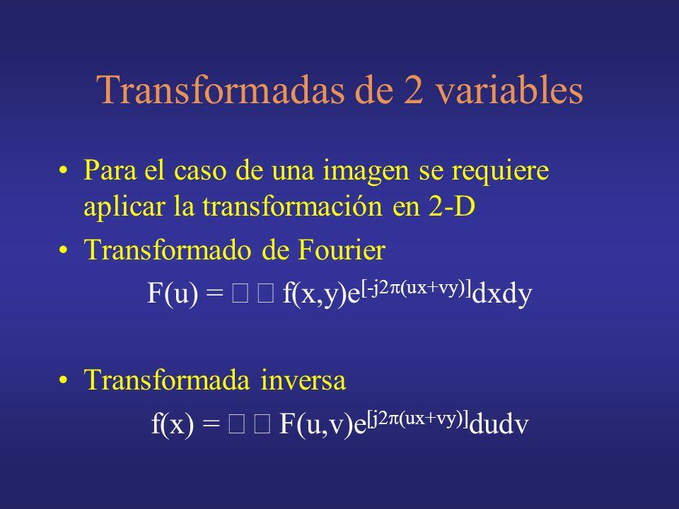 Transformadas de 2 variables