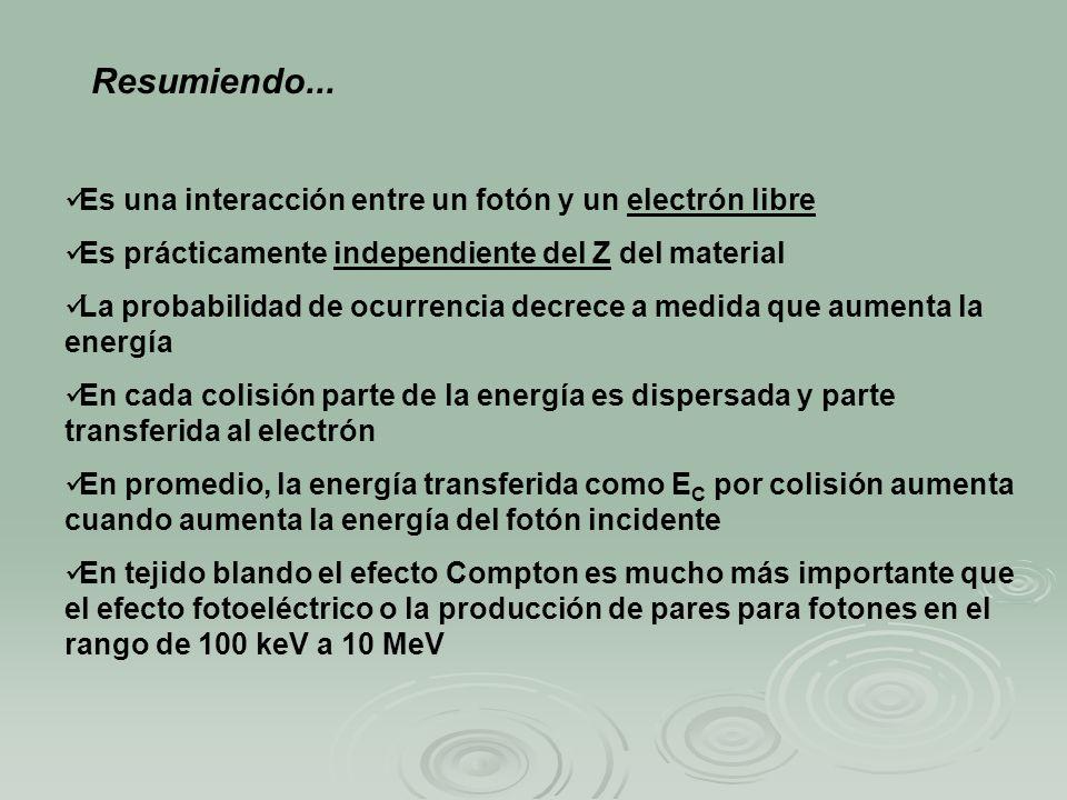 Resumiendo... Es una interacción entre un fotón y un electrón libre