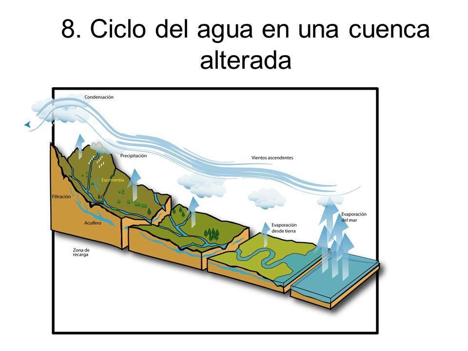 8. Ciclo del agua en una cuenca alterada