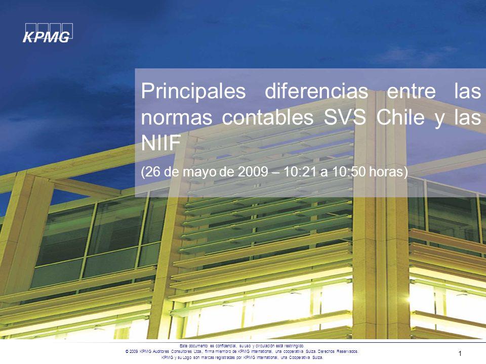Principales diferencias entre las normas contables SVS Chile y las NIIF