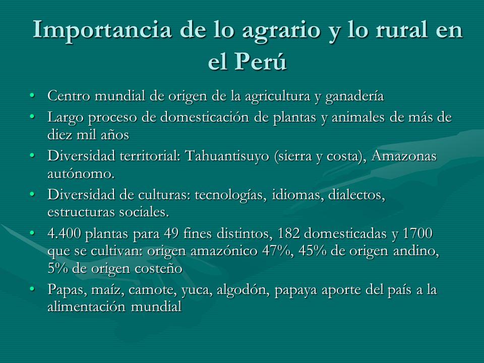 Importancia de lo agrario y lo rural en el Perú