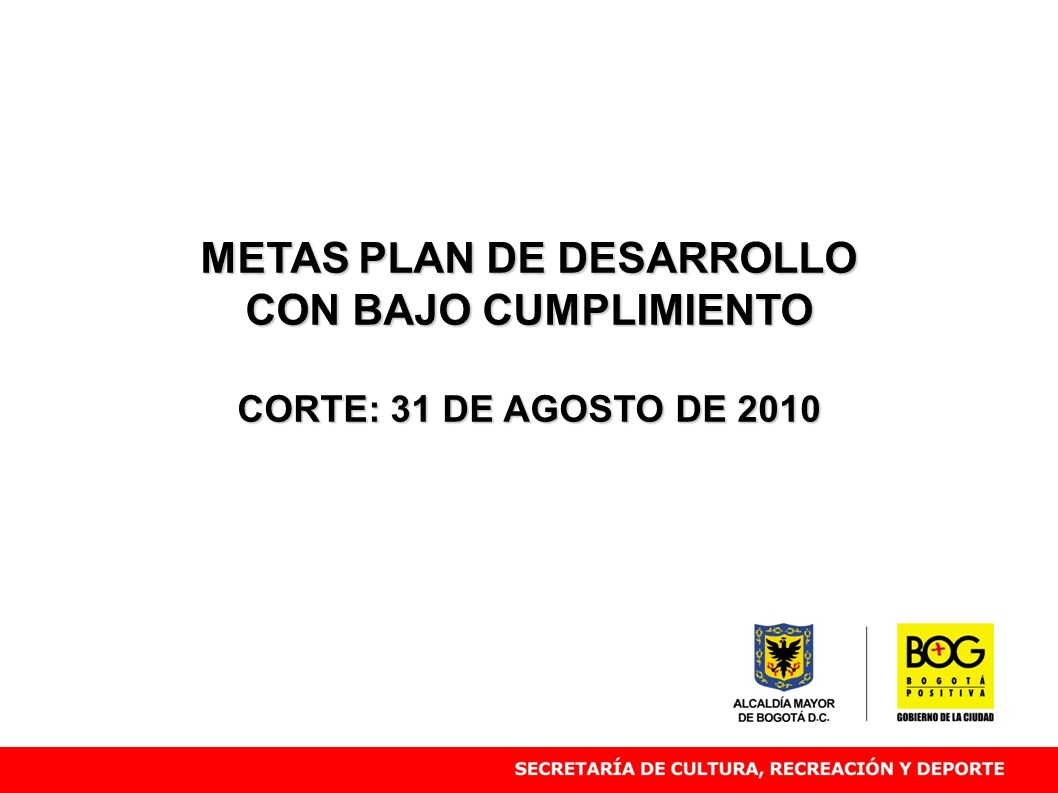 METAS PLAN DE DESARROLLO