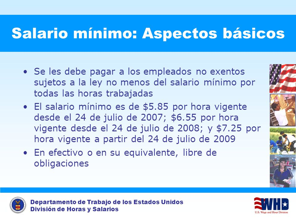 Salario mínimo: Aspectos básicos