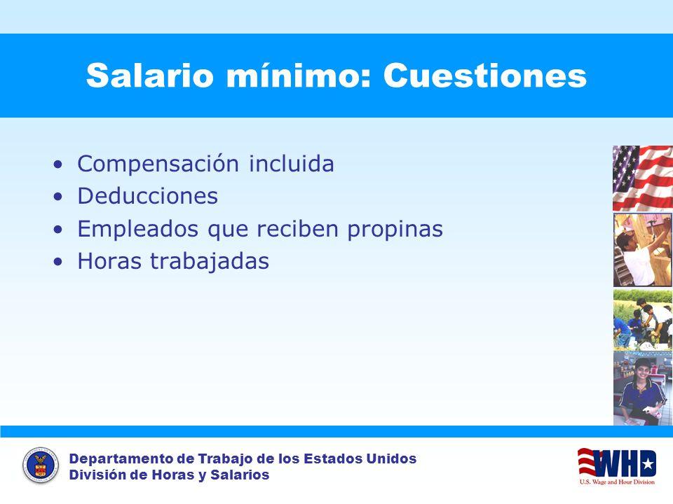 Salario mínimo: Cuestiones