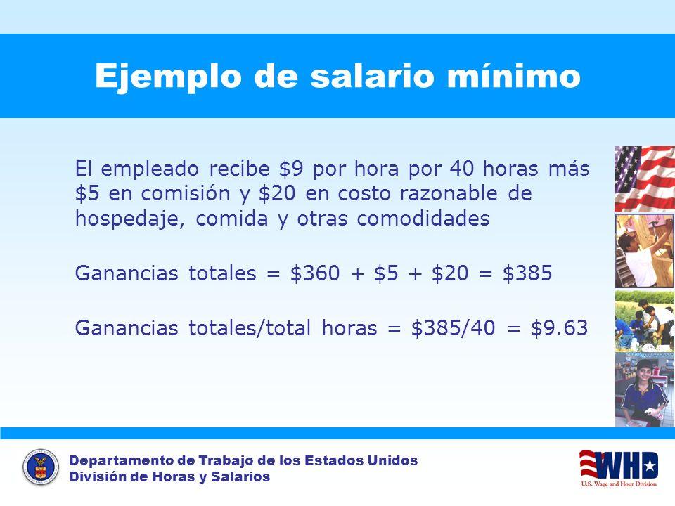 Ejemplo de salario mínimo
