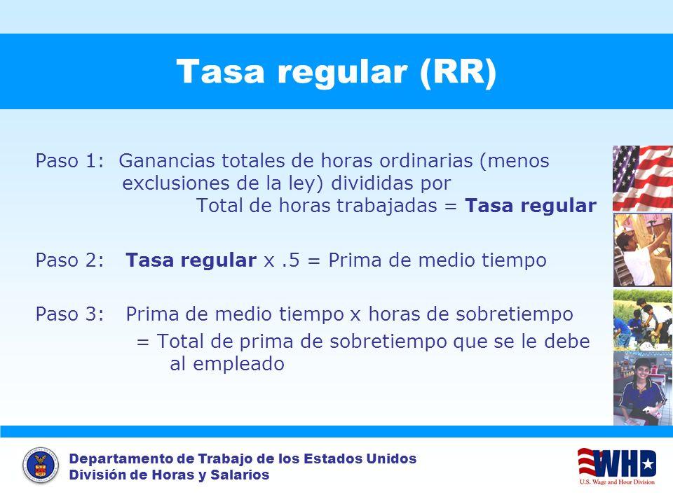 Tasa regular (RR)