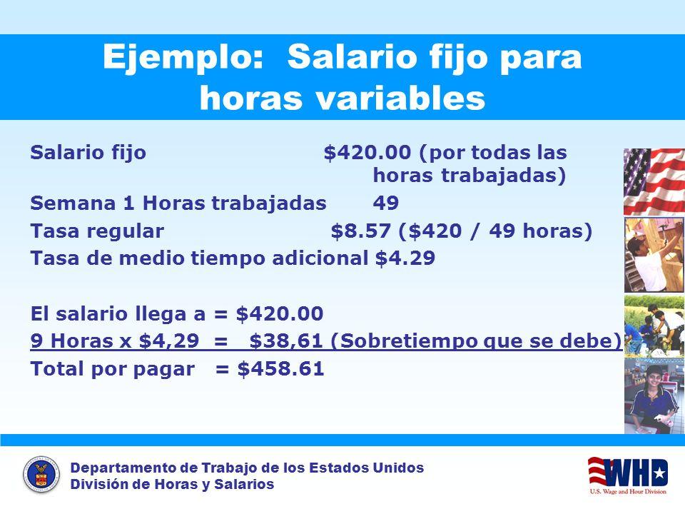 Ejemplo: Salario fijo para horas variables