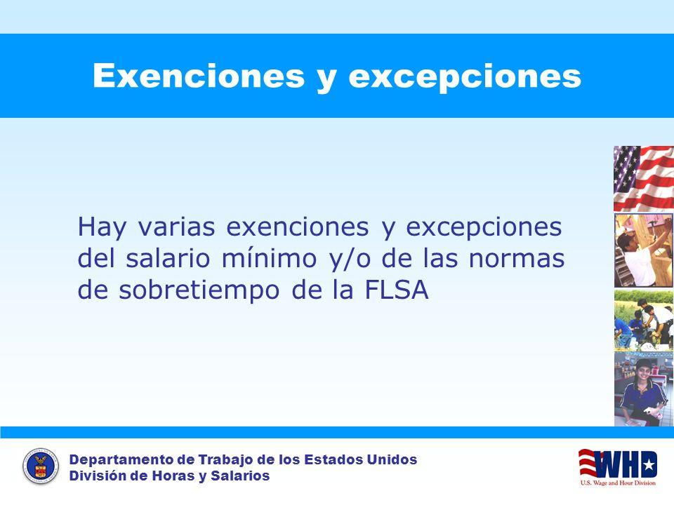 Exenciones y excepciones