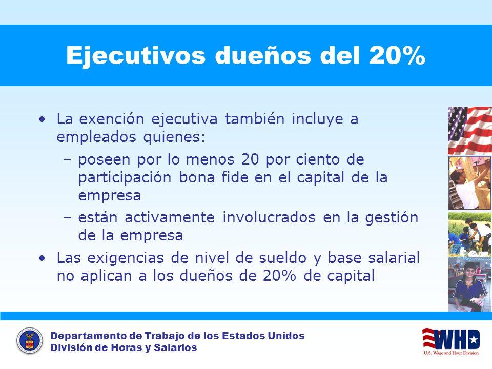 Ejecutivos dueños del 20%