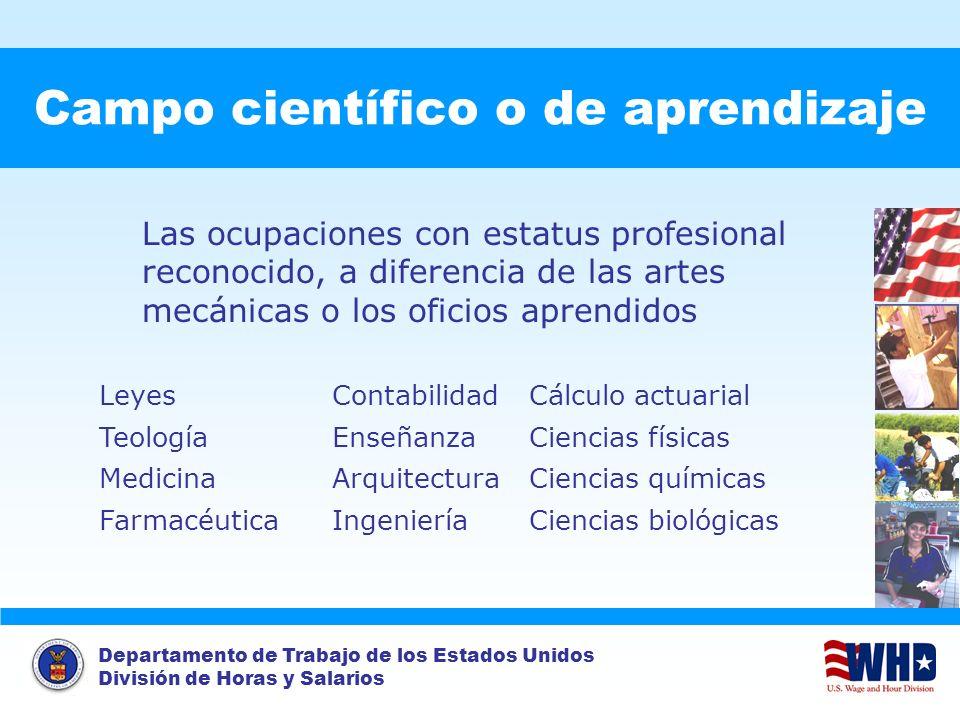 Campo científico o de aprendizaje