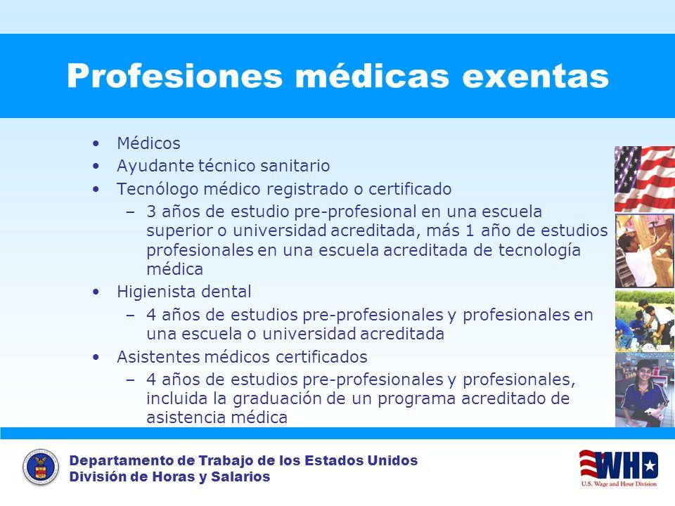 Profesiones médicas exentas