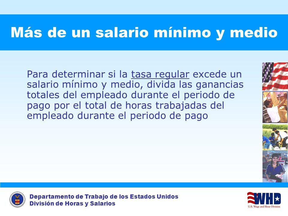 Más de un salario mínimo y medio