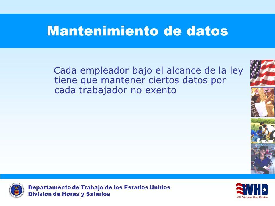 Mantenimiento de datos