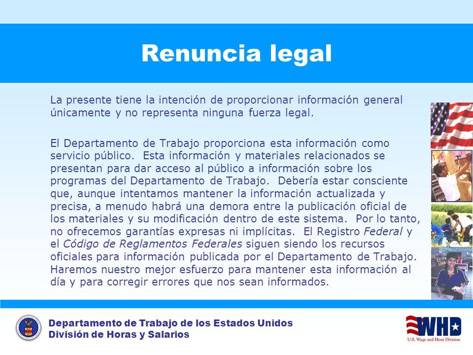 Renuncia legal La presente tiene la intención de proporcionar información general únicamente y no representa ninguna fuerza legal.