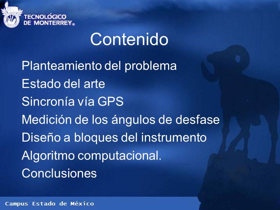 Contenido Planteamiento del problema Estado del arte Sincronía vía GPS