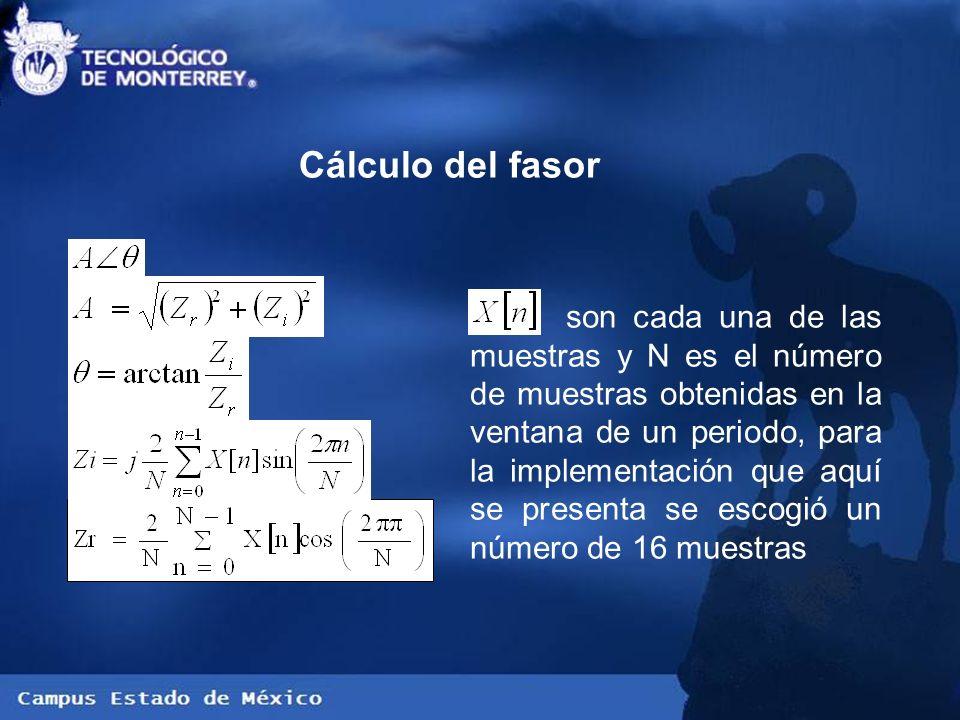 Cálculo del fasor