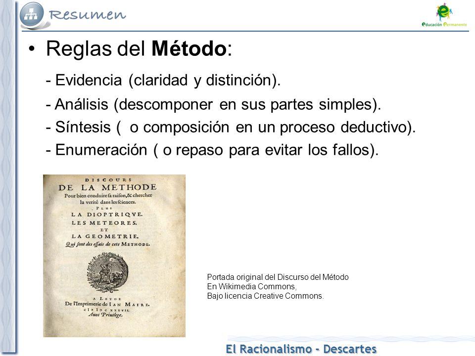 - Evidencia (claridad y distinción).