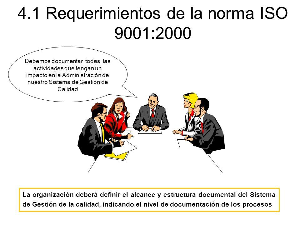4.1 Requerimientos de la norma ISO 9001:2000