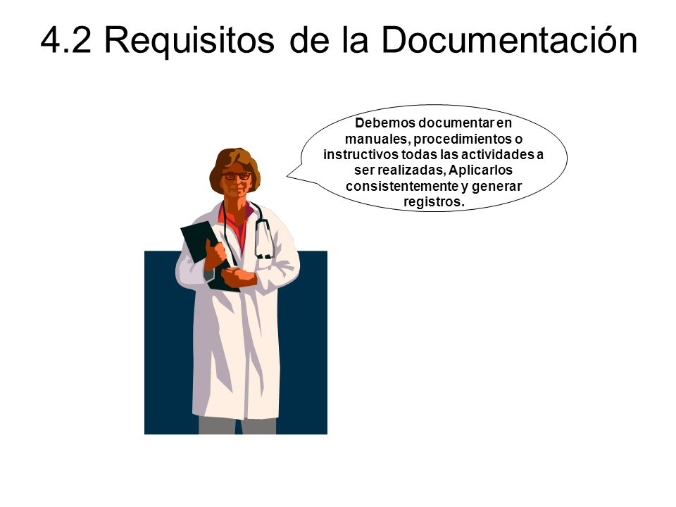 4.2 Requisitos de la Documentación