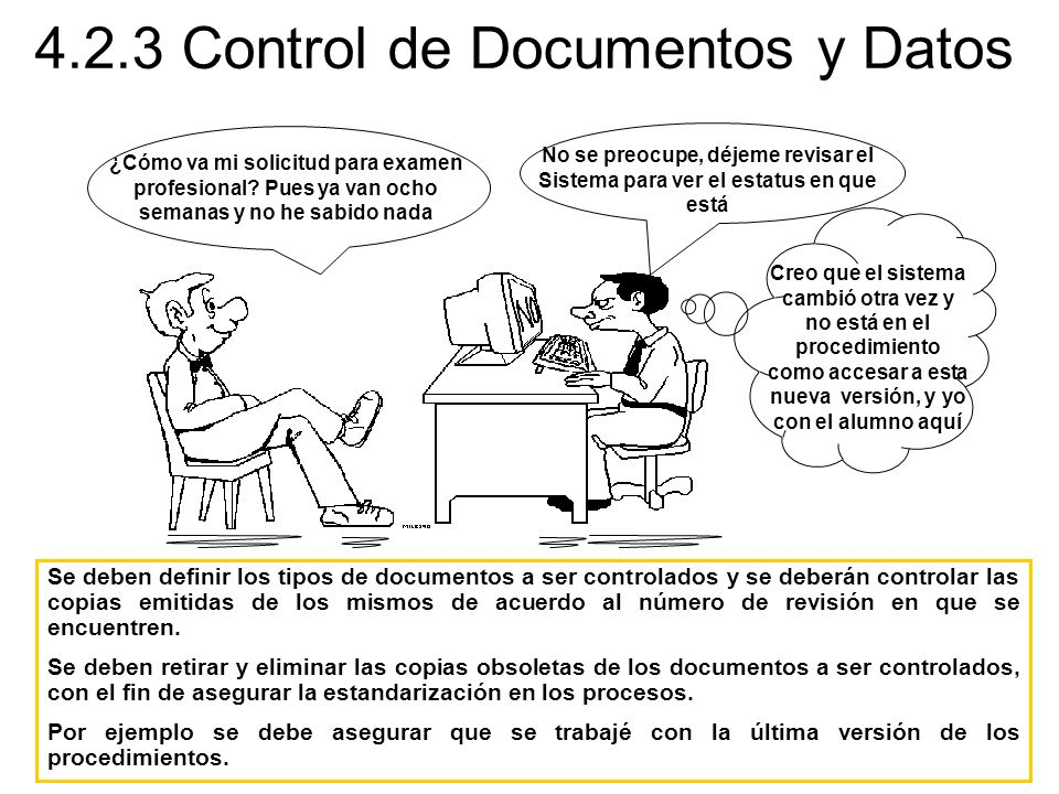 4.2.3 Control de Documentos y Datos
