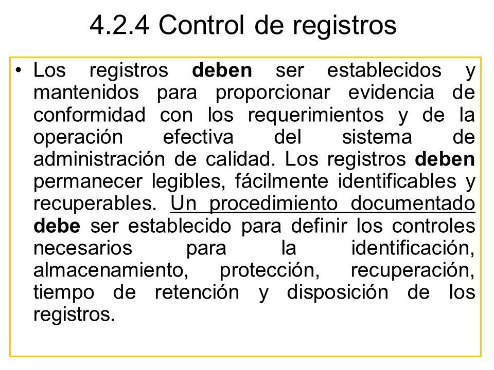 4.2.4 Control de registros