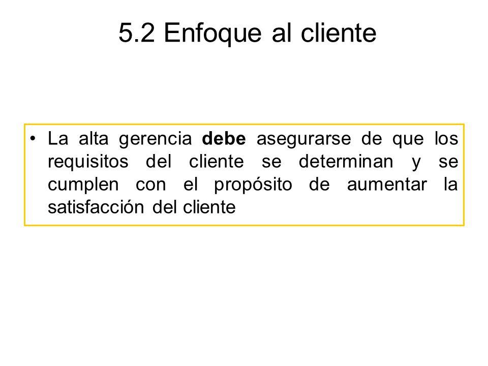 5.2 Enfoque al cliente