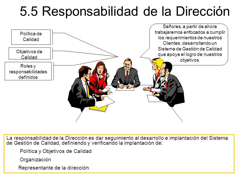 5.5 Responsabilidad de la Dirección