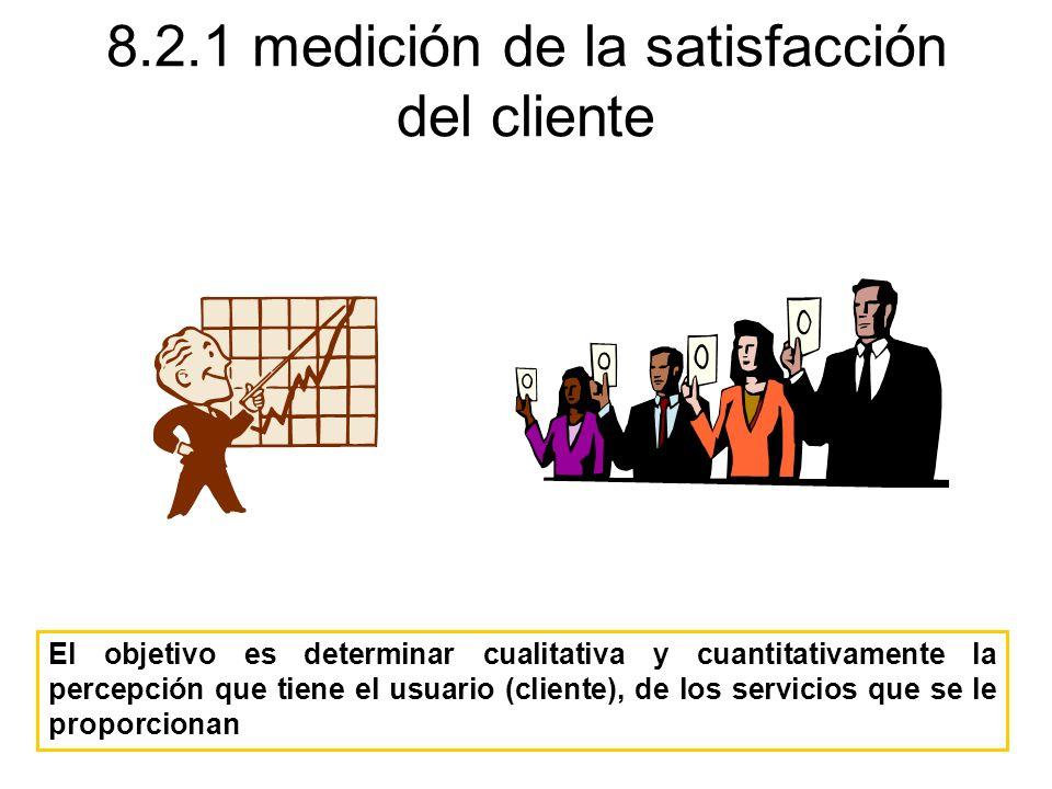 8.2.1 medición de la satisfacción del cliente