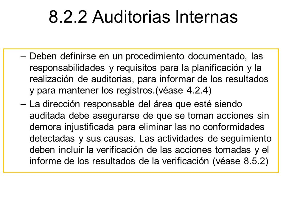 8.2.2 Auditorias Internas