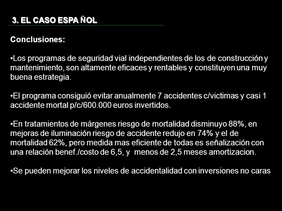 3. EL CASO ESPA ÑOL Conclusiones: