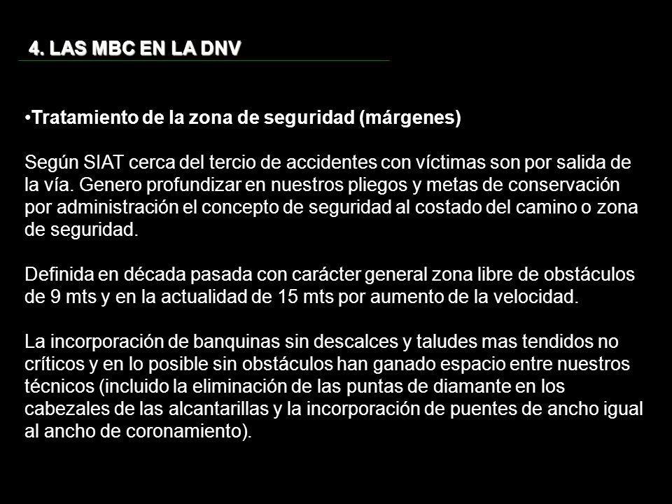 4. LAS MBC EN LA DNV Tratamiento de la zona de seguridad (márgenes)
