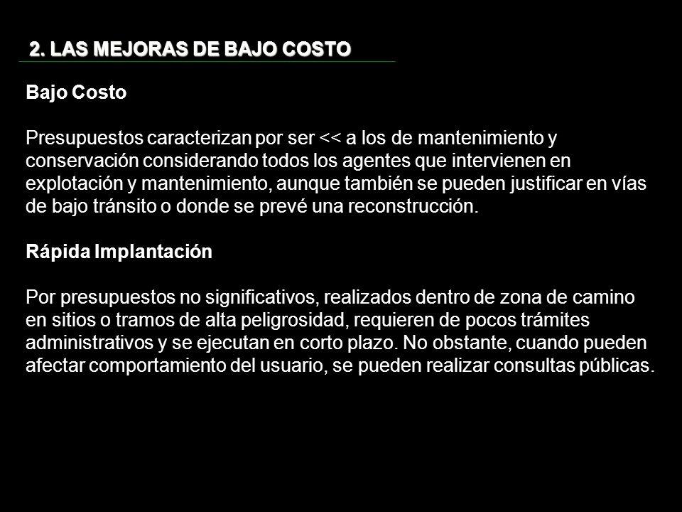 2. LAS MEJORAS DE BAJO COSTO