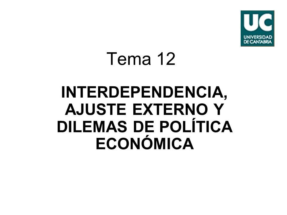 INTERDEPENDENCIA, AJUSTE EXTERNO Y DILEMAS DE POLÍTICA ECONÓMICA