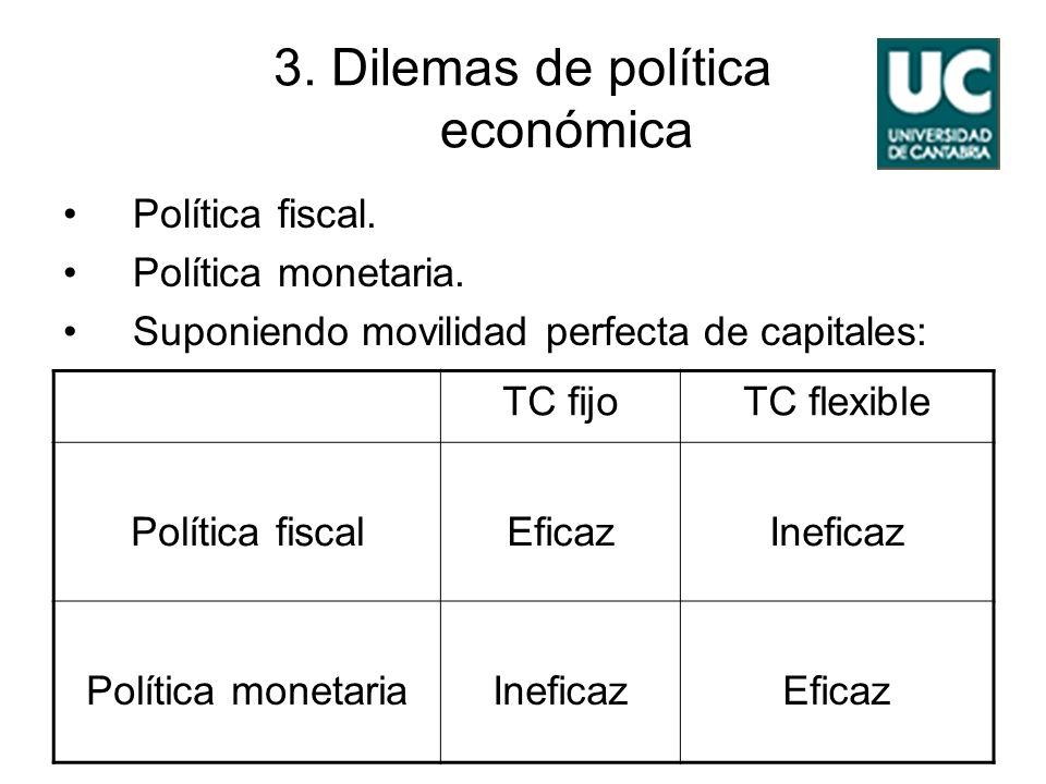 3. Dilemas de política económica