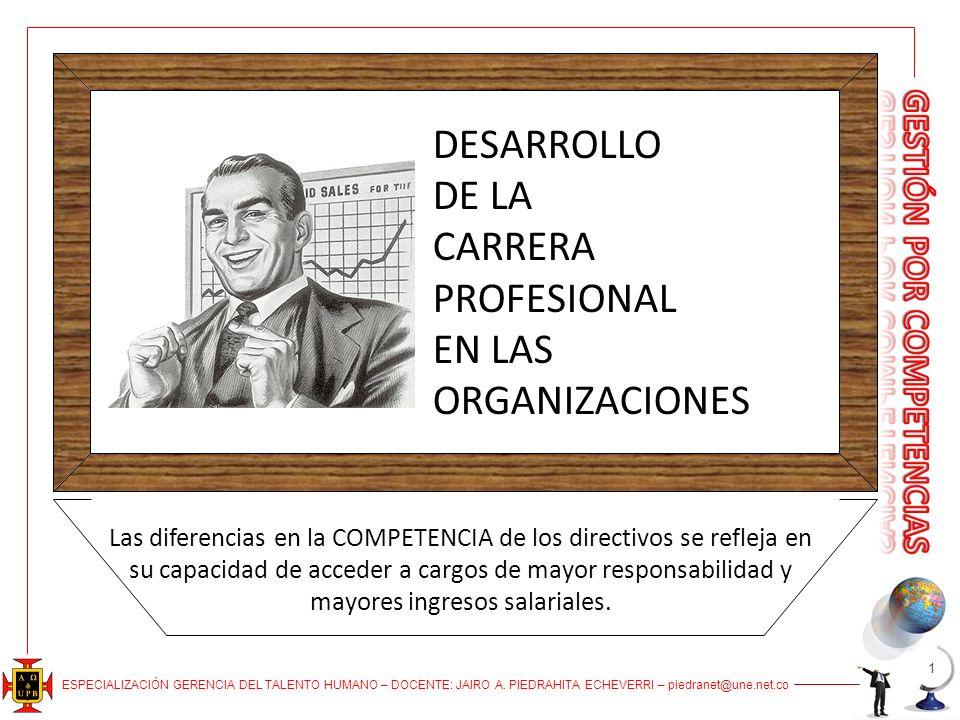 DESARROLLO DE LA CARRERA PROFESIONAL EN LAS ORGANIZACIONES