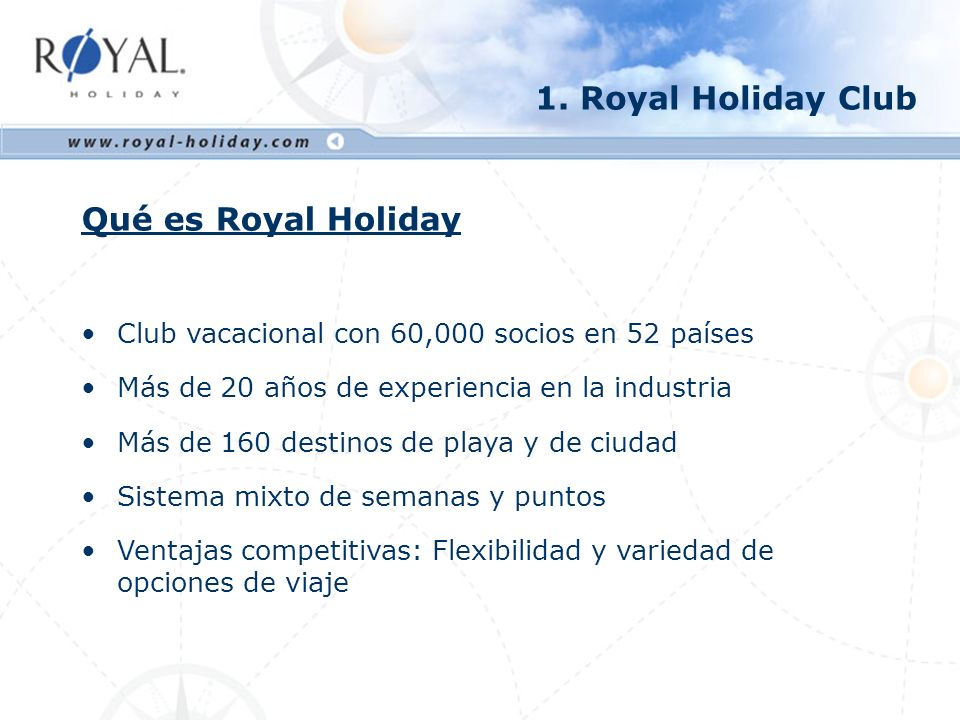 1. Royal Holiday Club Qué es Royal Holiday
