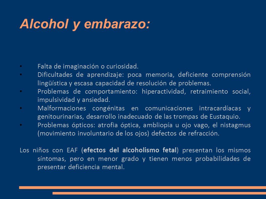 Alcohol y embarazo: Falta de imaginación o curiosidad.