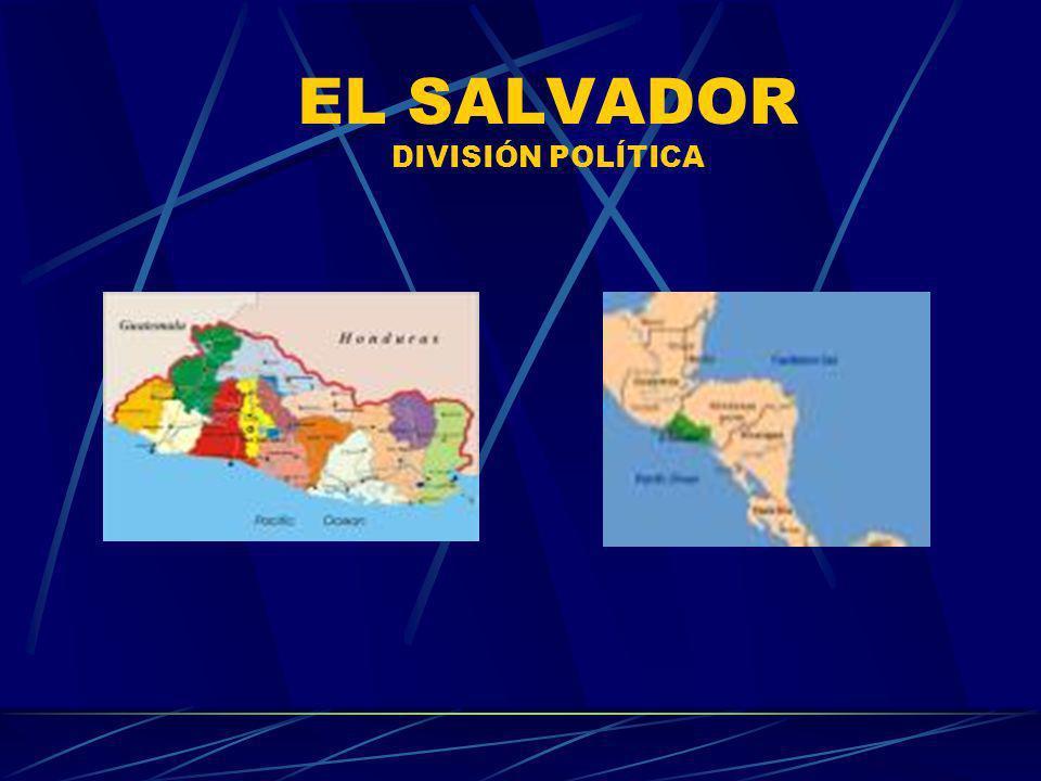 EL SALVADOR DIVISIÓN POLÍTICA