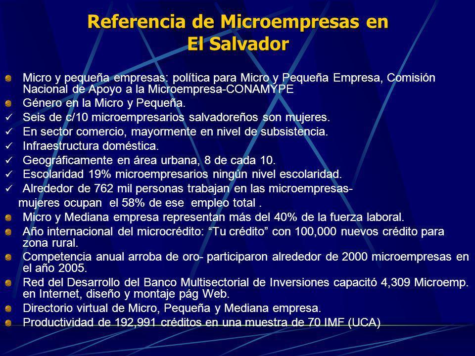Referencia de Microempresas en El Salvador