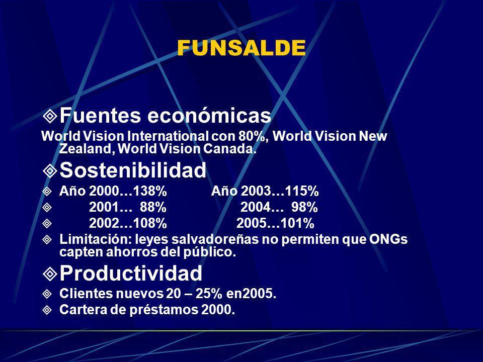 FUNSALDE Fuentes económicas Sostenibilidad Productividad
