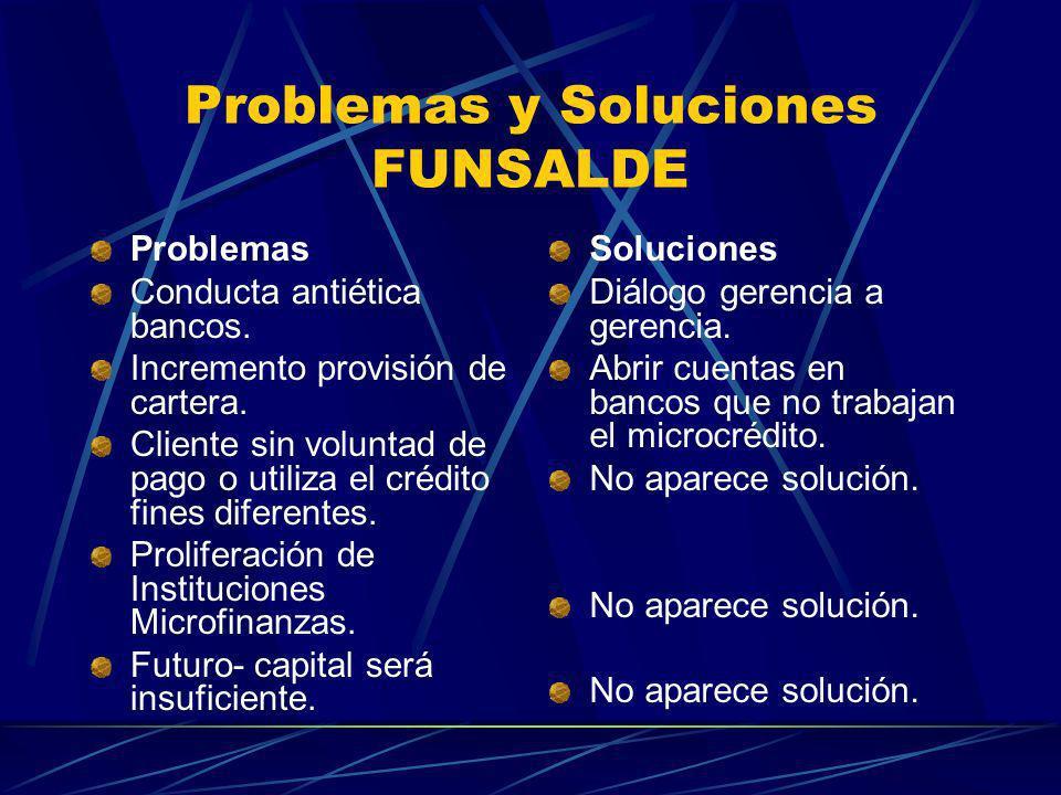 Problemas y Soluciones FUNSALDE