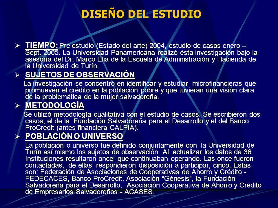 DISEÑO DEL ESTUDIO